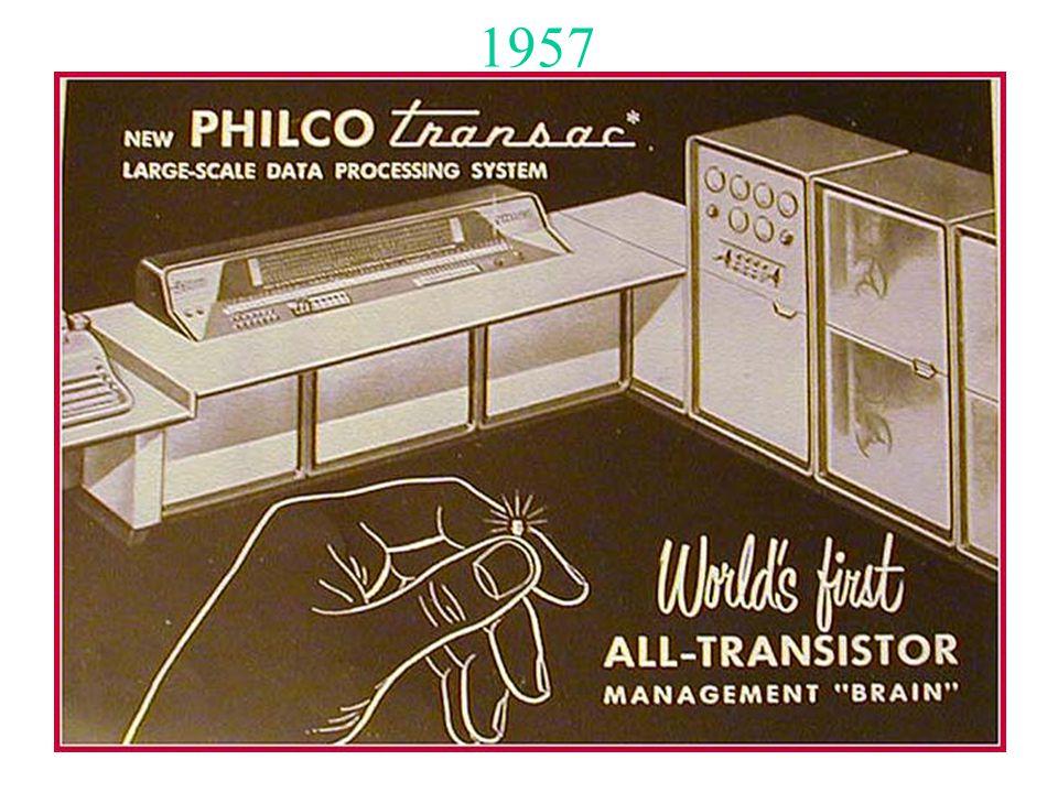 45 1957 Nasce il computer di seconda generazione a 10 anni dalla scoperta del transistor: la Siemens AG inizia la produzione su scala industriale, prima al mondo, di un computer interamente transistorizzato, il Modello 2002.