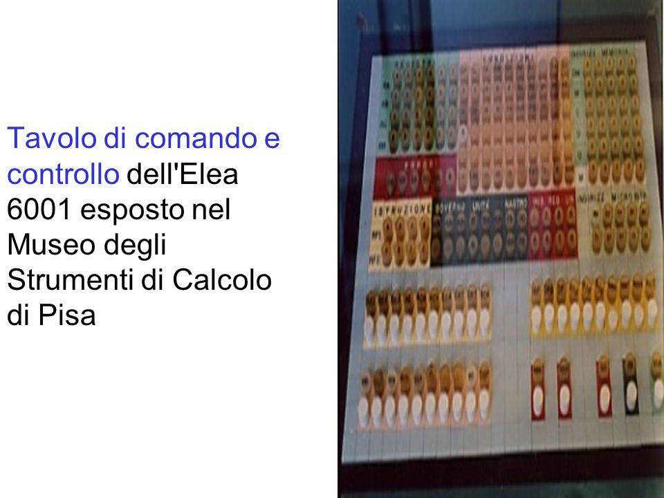 Tavolo di comando e controllo dell'Elea 6001 esposto nel Museo degli Strumenti di Calcolo di Pisa