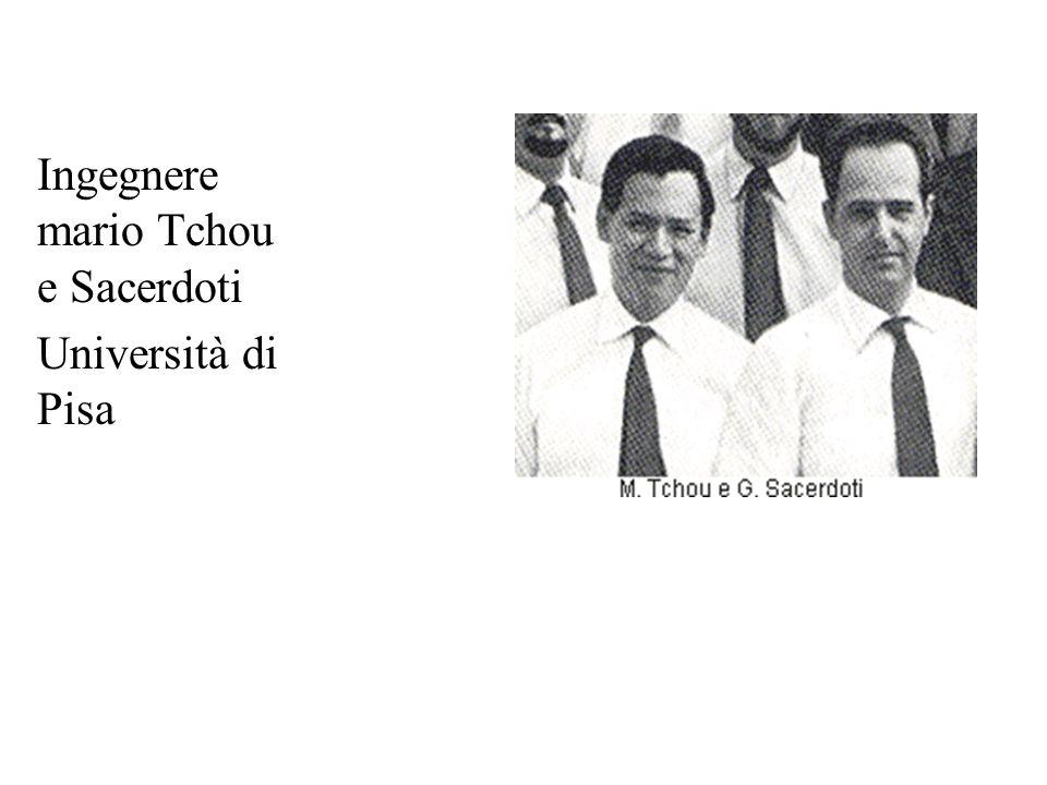 Ingegnere mario Tchou e Sacerdoti Università di Pisa