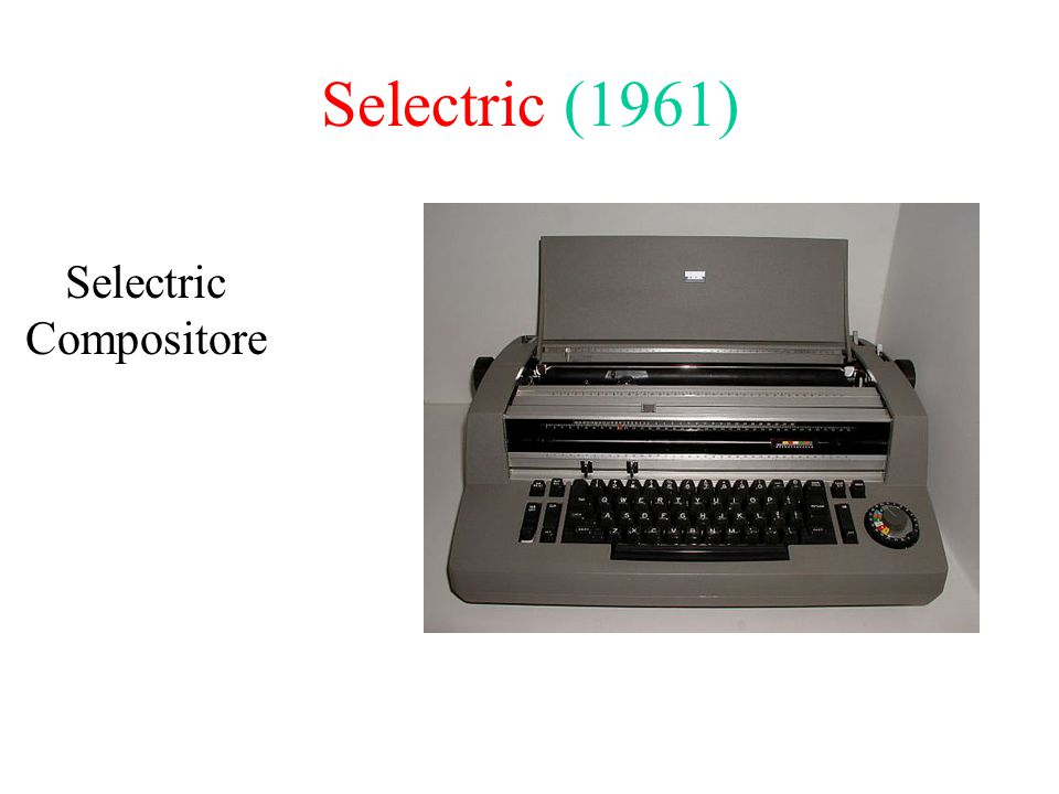 Selectric (1961) Selectric Compositore