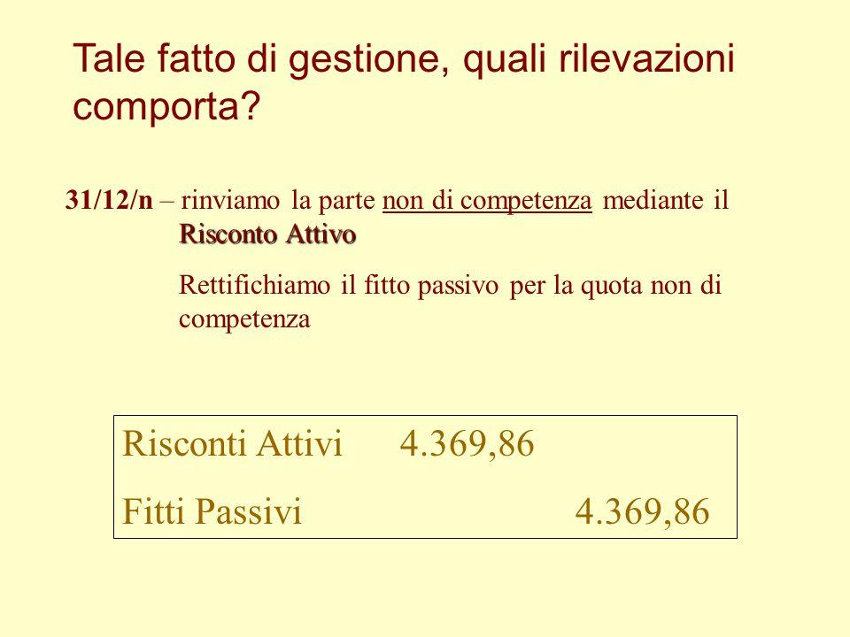 Tale fatto di gestione, quali rilevazioni comporta? 15/11/n – uscita di cassa per 5.000 € la cassa subisce una V.F.P., che misura un costo cioè ….. V.
