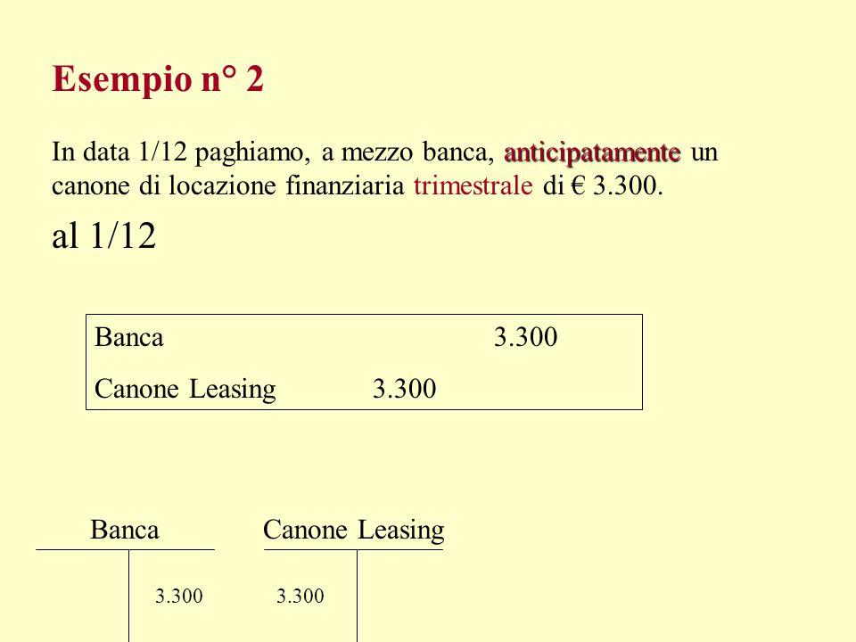 Esempio n° 1 al 31/12/99 Risconti Attivi 2.117,21 Assicurazioni 2.117,21 CassaAssicurazioni 2.700 Risconti Attivi 2.117,21 S 582,79 S.E.S.P. Intero pe