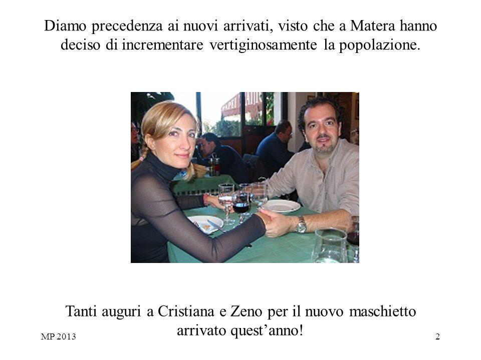 MP 20132 Diamo precedenza ai nuovi arrivati, visto che a Matera hanno deciso di incrementare vertiginosamente la popolazione.
