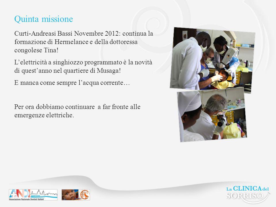 Quinta missione Curti-Andreasi Bassi Novembre 2012: continua la formazione di Hermelance e della dottoressa congolese Tina.