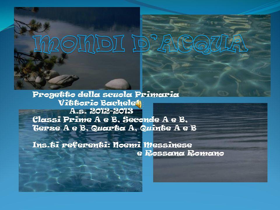 Progetto della scuola Primaria Vittorio Bachelet A.s. 2012-2013 Classi Prime A e B, Seconde A e B, Terze A e B, Quarta A, Quinte A e B Ins.ti referent