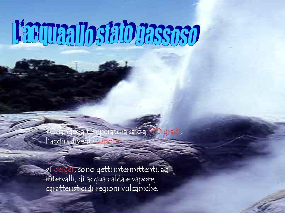 GHIACCIO ACQUA VAPORE ACQUEO (stato solido) (stato liquido) (stato gassoso)