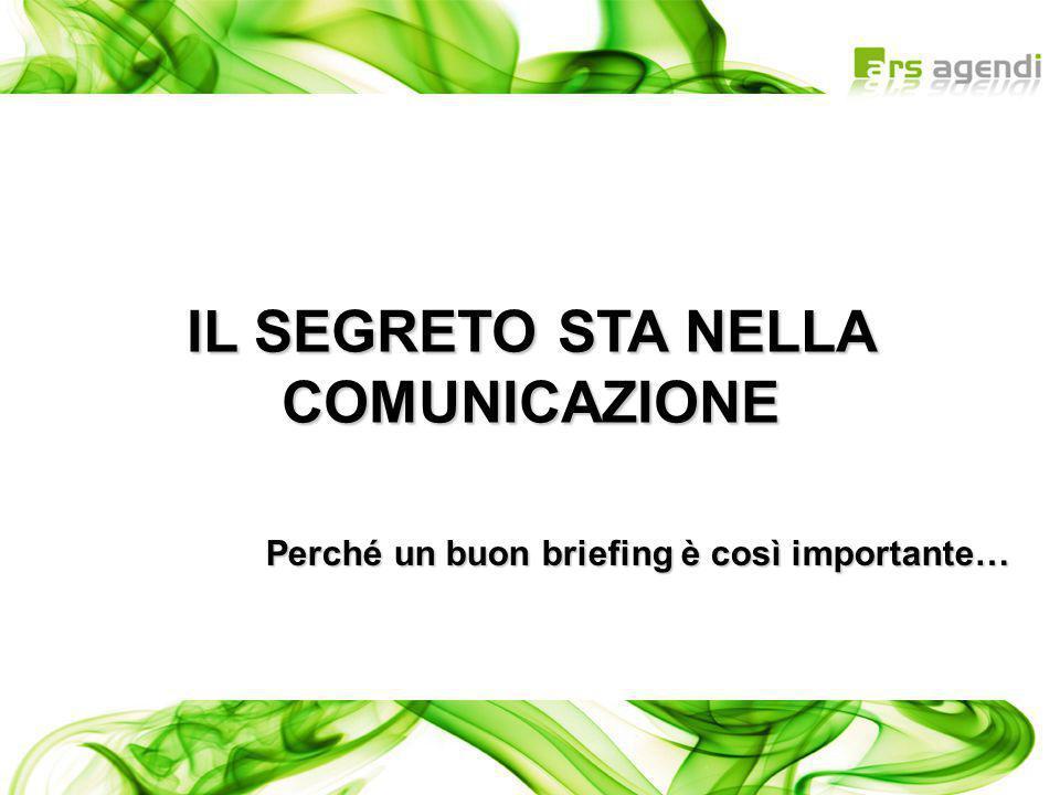 IL SEGRETO STA NELLA COMUNICAZIONE Perché un buon briefing è così importante…