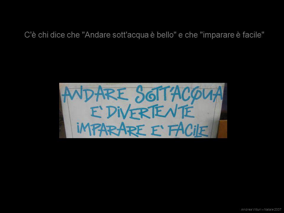 Ma se chi lo afferma è il Club Sommozzatori di Mestre può andar bene… Andrea Vitturi – Natale 2007