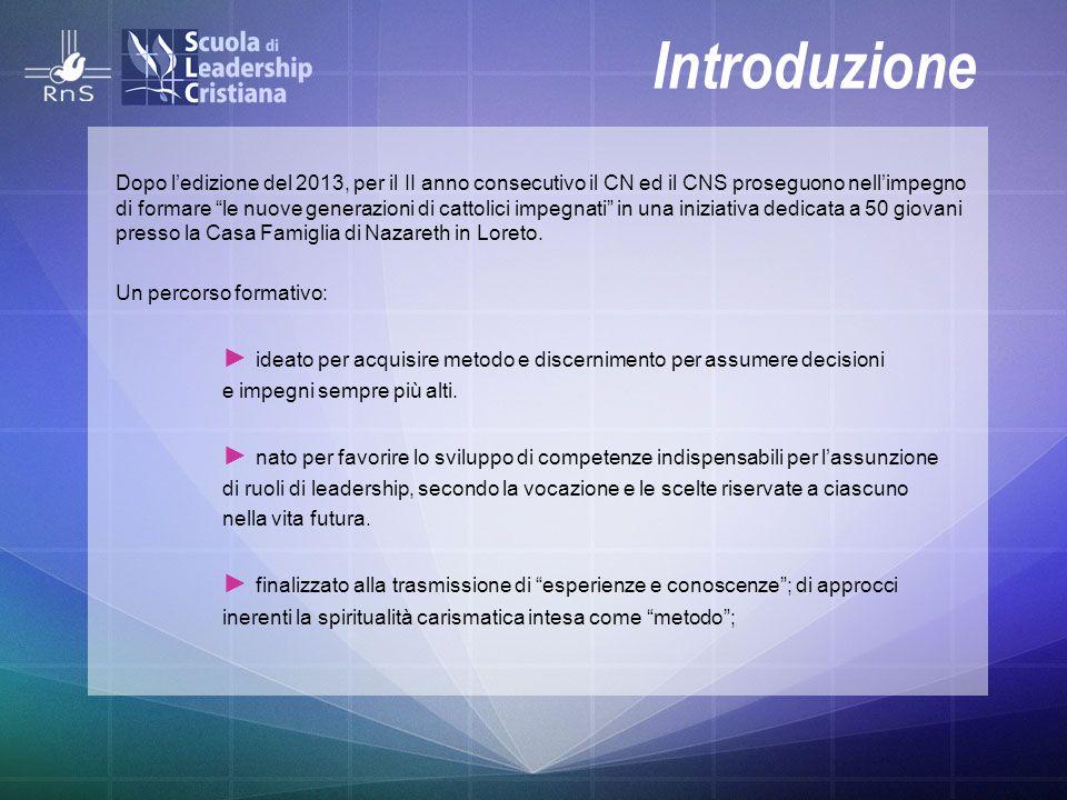 """Introduzione Dopo l'edizione del 2013, per il II anno consecutivo il CN ed il CNS proseguono nell'impegno di formare """"le nuove generazioni di cattolic"""