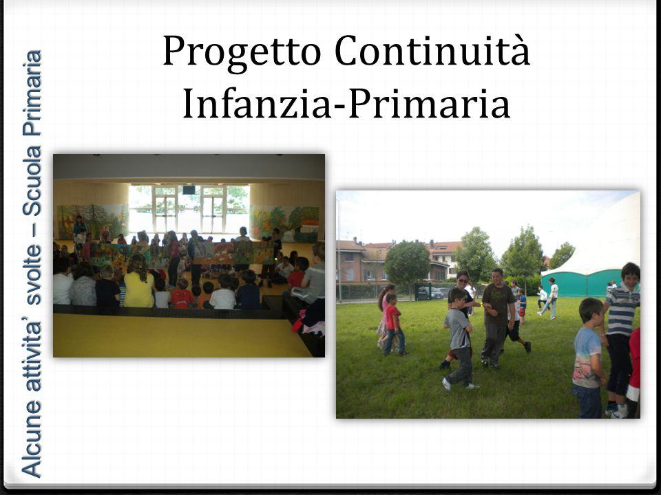 Alcune attivita' svolte – Scuola Primaria Progetto Continuità Infanzia-Primaria