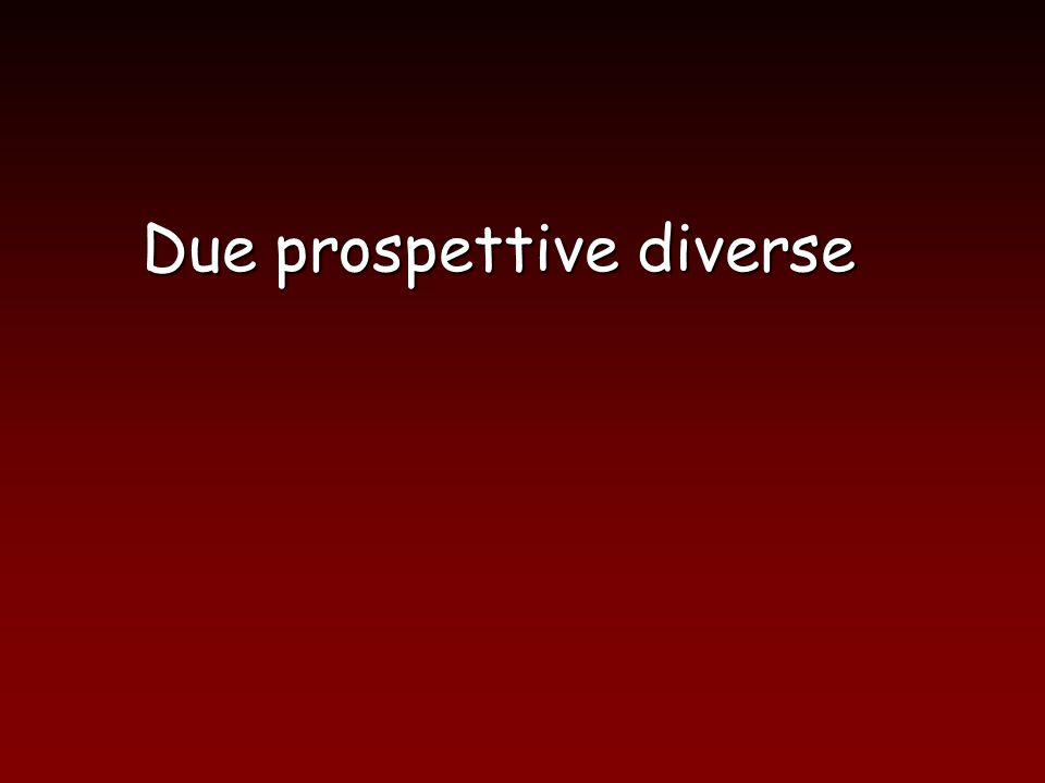 Due prospettive diverse