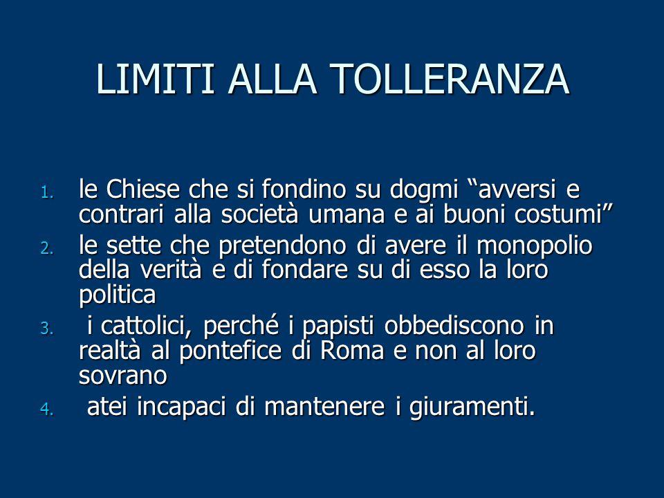 LIMITI ALLA TOLLERANZA 1.