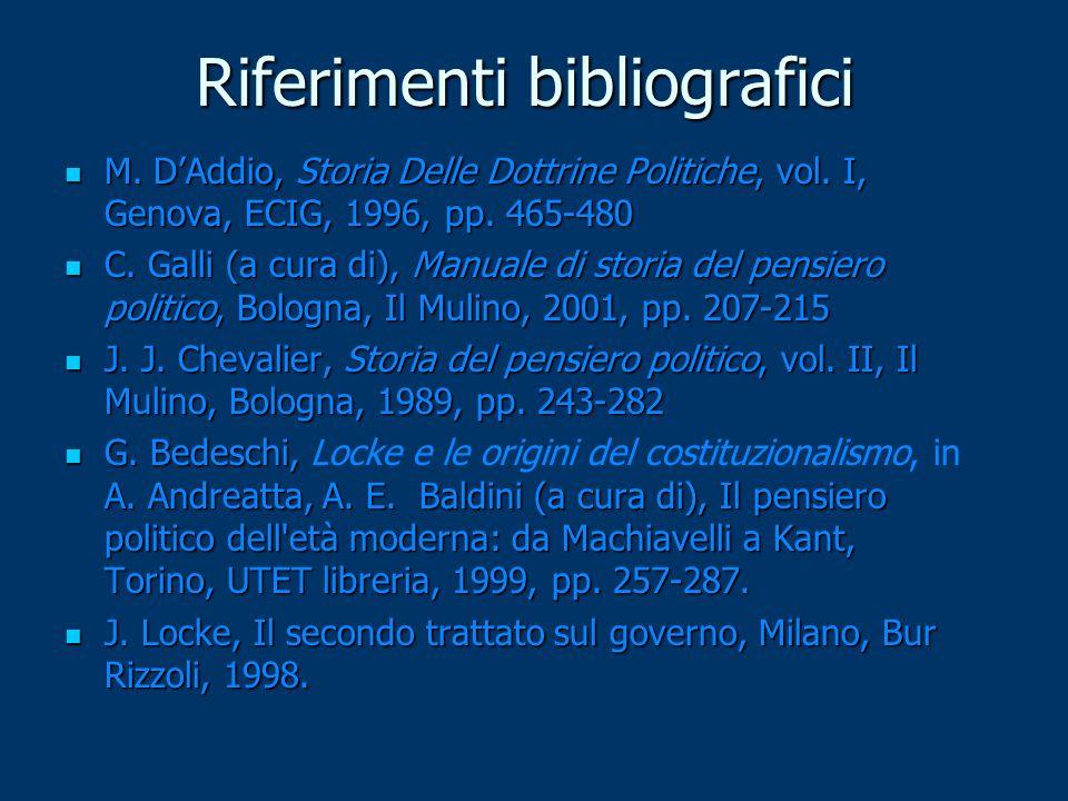 Riferimenti bibliografici M. D'Addio, Storia Delle Dottrine Politiche, vol. I, Genova, ECIG, 1996, pp. 465-480 M. D'Addio, Storia Delle Dottrine Polit
