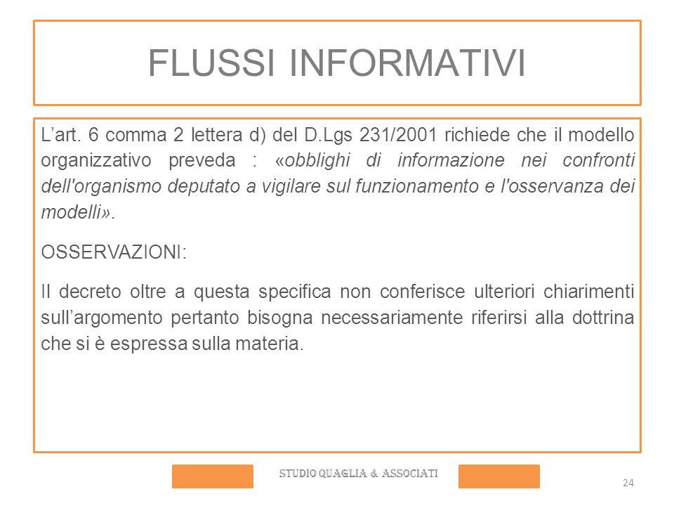 FLUSSI INFORMATIVI L'art.