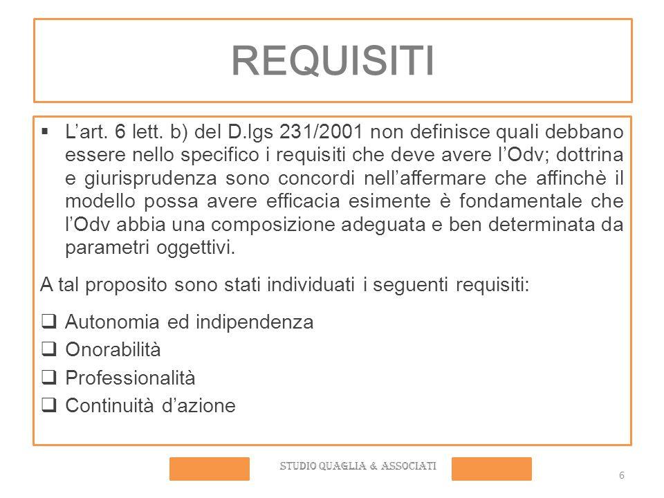 REQUISITI  L'art.6 lett.