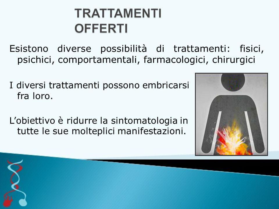 I diversi trattamenti possono embricarsi fra loro. L'obiettivo è ridurre la sintomatologia in tutte le sue molteplici manifestazioni. Esistono diverse
