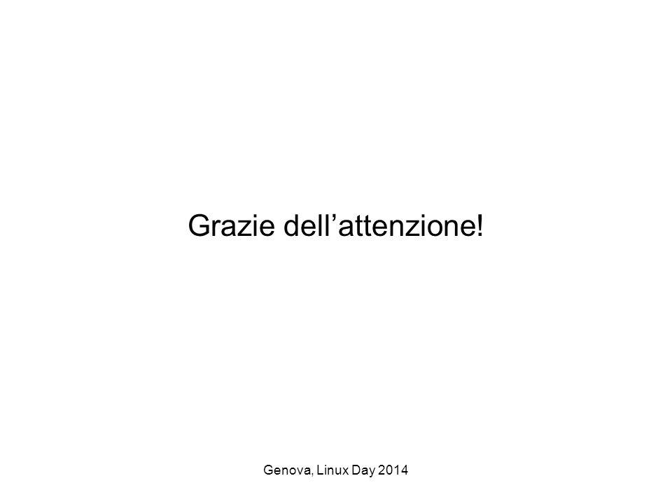 Genova, Linux Day 2014 Grazie dell'attenzione!