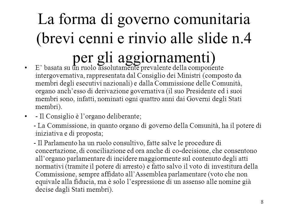 7 Lo Stato italiano e le nuove forme di organizzazione internazionale alla luce del dettato costituzionale Oltre alle forme di organizzazione del diritto internazionale, un elemento realmente innovativo è rappresentato dalle organizzazioni sovranazionali europee: CECA, CEE ed EURATOM.