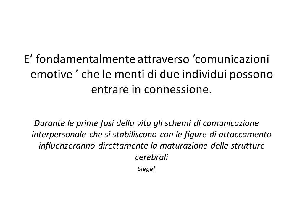 E' fondamentalmente attraverso 'comunicazioni emotive ' che le menti di due individui possono entrare in connessione.