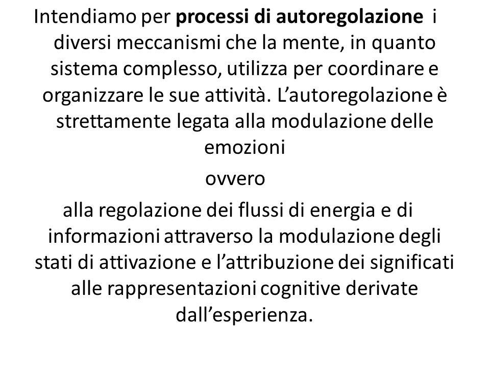 Intendiamo per processi di autoregolazione i diversi meccanismi che la mente, in quanto sistema complesso, utilizza per coordinare e organizzare le sue attività.