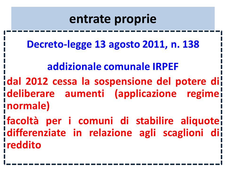 entrate proprie Decreto-legge 13 agosto 2011, n.