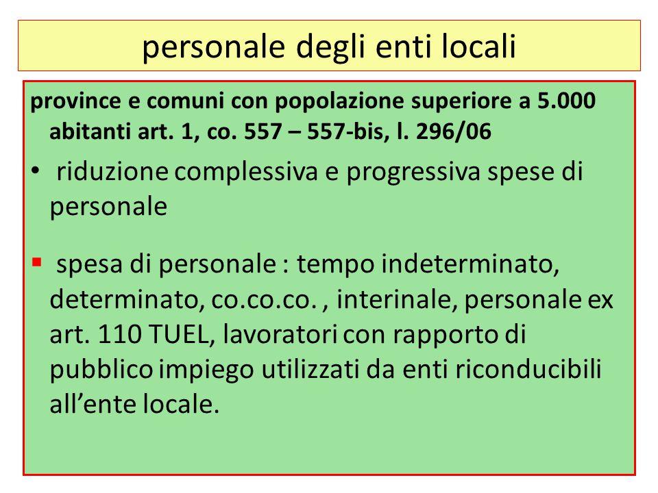 personale degli enti locali province e comuni con popolazione superiore a 5.000 abitanti art.