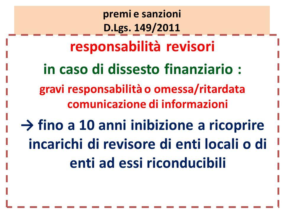 premi e sanzioni D.Lgs.