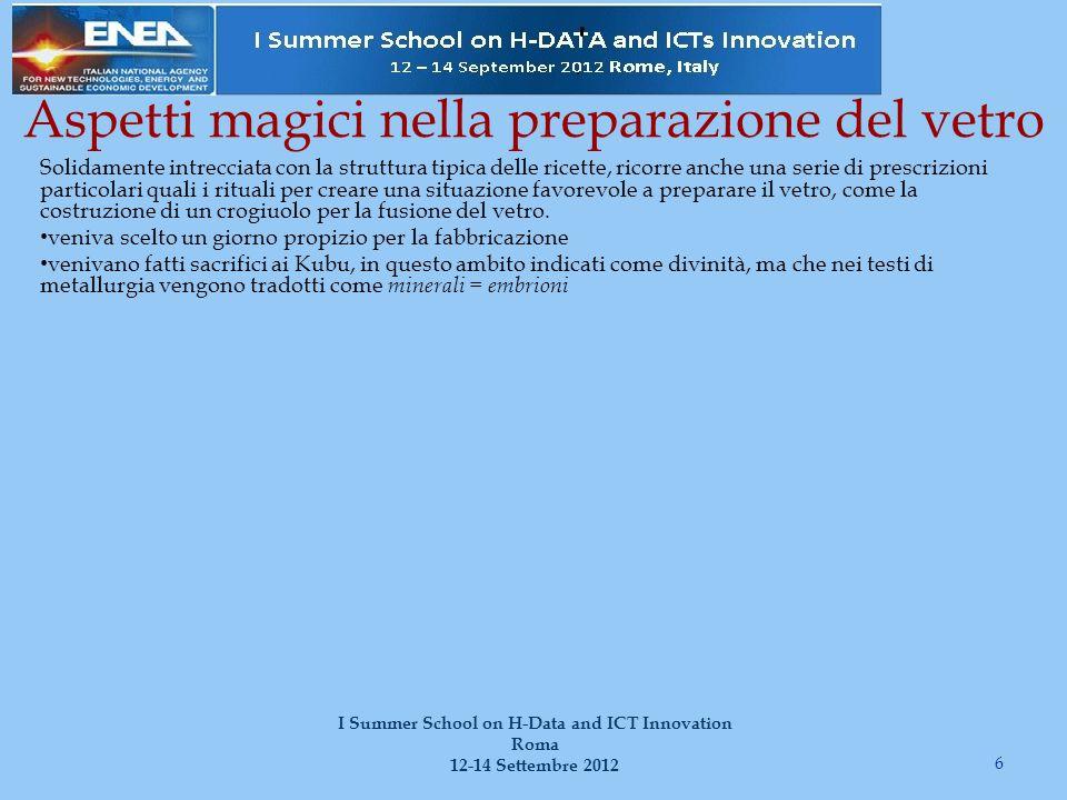 Per ricostituire il testo … 17 I Summer School on H-Data and ICT Innovation Roma 12-14 Settembre 2012 1.