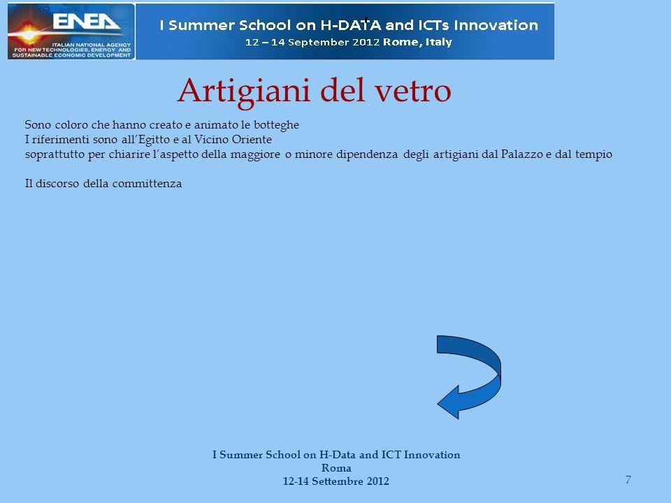 18 I Summer School on H-Data and ICT Innovation Roma 12-14 Settembre 2012 Proviamo con un esempio … Prendiamo i codici A, B, C, D, E E è copia di D ABC coincidono per certi errori che non sono comuni con D Per cui derivano da un originale scomparso a Se poi A e B coincidono in alcuni punti in cui C diverge, vi sar à un altro archetipo b, scomparso, comune solo ad A e B, ma non a C.