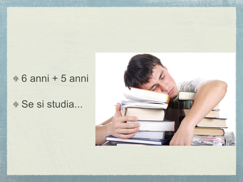 6 anni + 5 anni Se si studia...