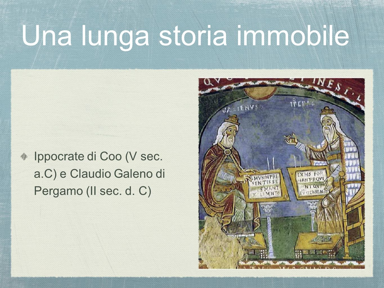 Una lunga storia immobile Ippocrate di Coo (V sec. a.C) e Claudio Galeno di Pergamo (II sec. d. C)