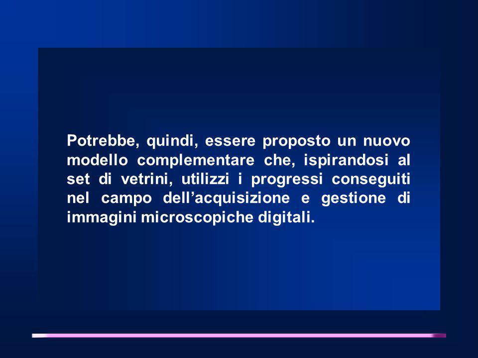 Potrebbe, quindi, essere proposto un nuovo modello complementare che, ispirandosi al set di vetrini, utilizzi i progressi conseguiti nel campo dell'acquisizione e gestione di immagini microscopiche digitali.