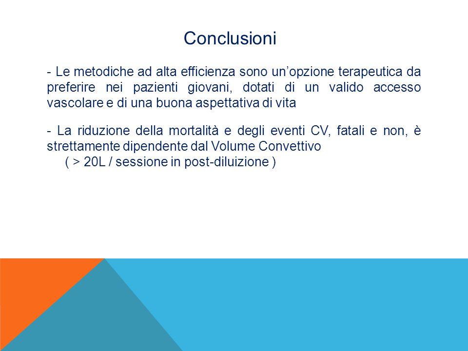 Conclusioni - Le metodiche ad alta efficienza sono un'opzione terapeutica da preferire nei pazienti giovani, dotati di un valido accesso vascolare e d