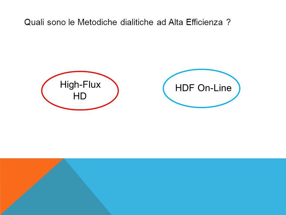 Quali sono le Metodiche dialitiche ad Alta Efficienza ? High-Flux HD HDF On-Line