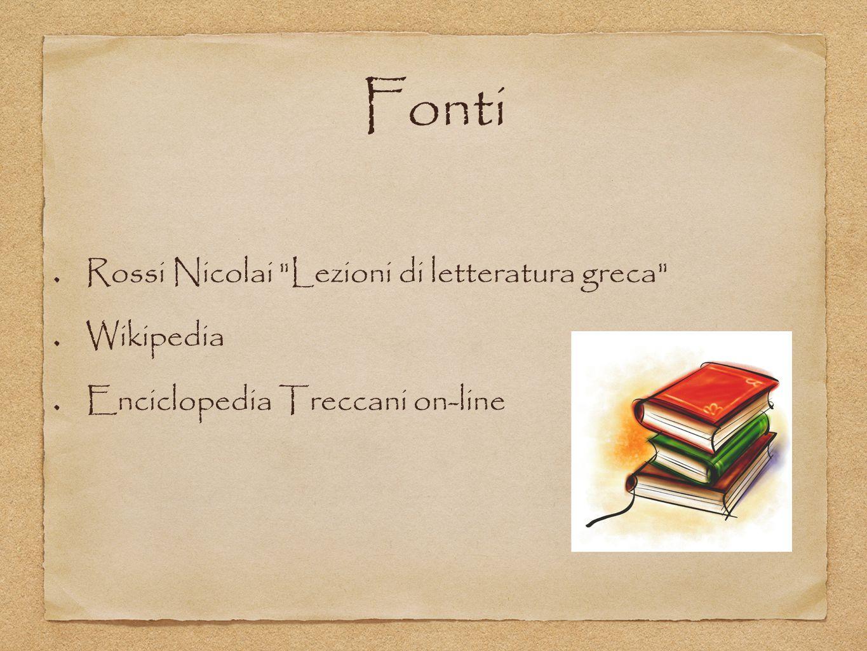 Fonti Rossi Nicolai Lezioni di letteratura greca Wikipedia Enciclopedia Treccani on-line