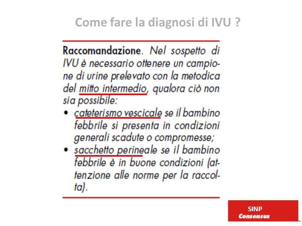 Come fare la diagnosi di IVU ? SINP