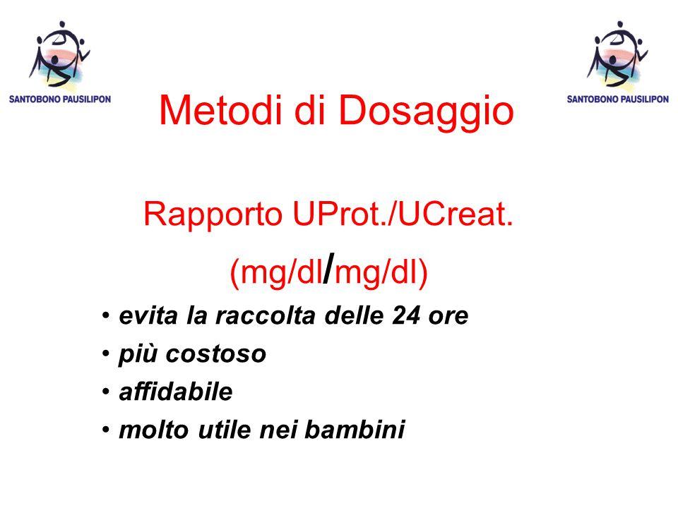 Rapporto UProt./UCreat.