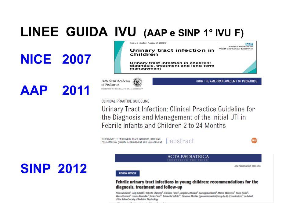 Segni e Sintomi Raccolta Urine Tests laboratorio sulle urine Anamnesi ed Esame Clinico Trattamento della fase acuta Profilassi Antibiotica Diagnostica per Immagini Raccomandazioni chiave
