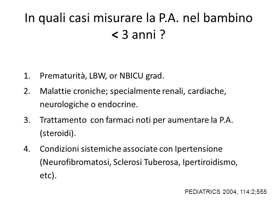 1.Prematurità, LBW, or NBICU grad.