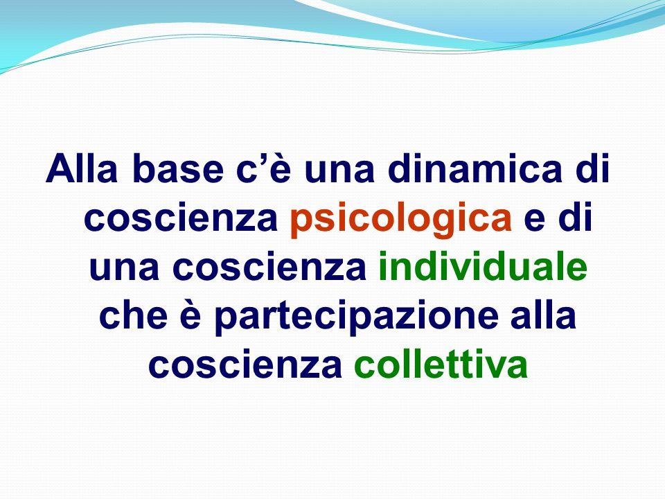 Alla base c'è una dinamica di coscienza psicologica e di una coscienza individuale che è partecipazione alla coscienza collettiva