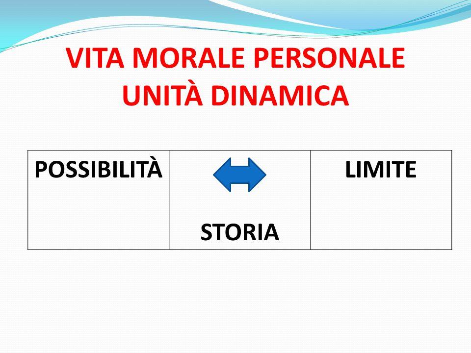 VITA MORALE PERSONALE UNITÀ DINAMICA POSSIBILITÀ STORIA LIMITE
