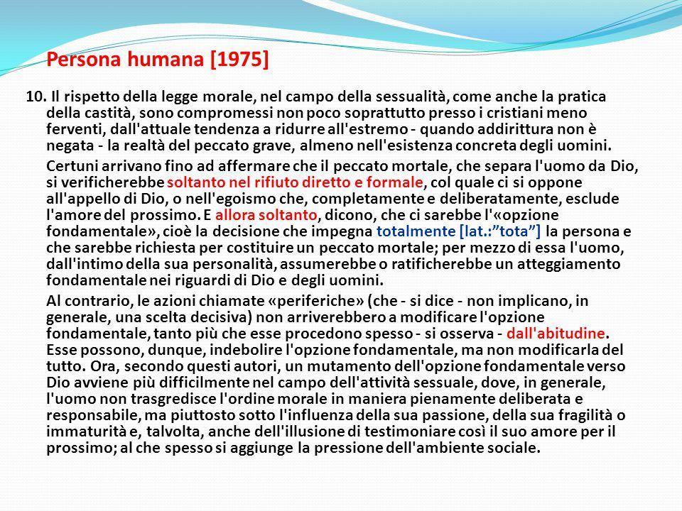 Persona humana [1975] 10.