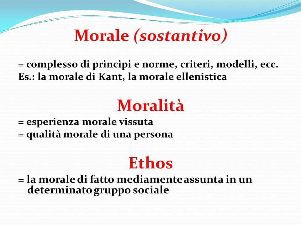 Norma morale - Giudizio previo rispetto al personale giudicare concreto (modelli di comportamento) - Ricorda l'importanza di un valore sollecitando la responsabilità di fronte ad esso - Aiuta a decifrare la correttezza di comportamenti - La responsabilità è attivata/ aiutata dalla norma - La norma è affidata alla responsabilità