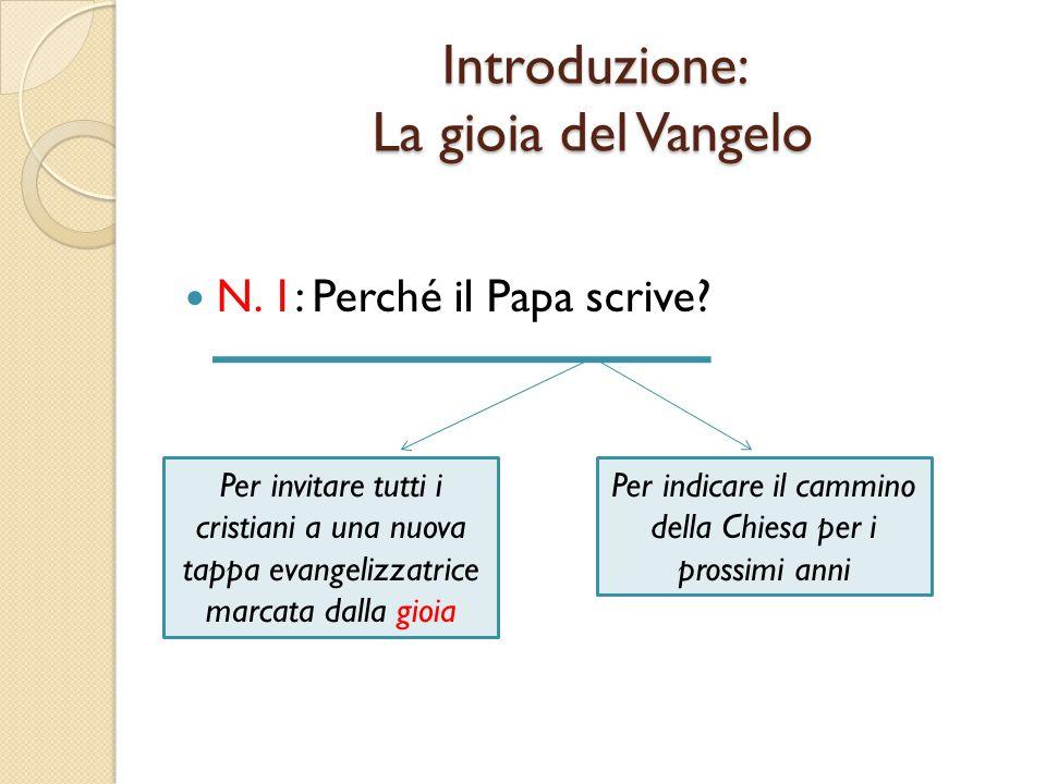 N.1: Perché il Papa scrive.