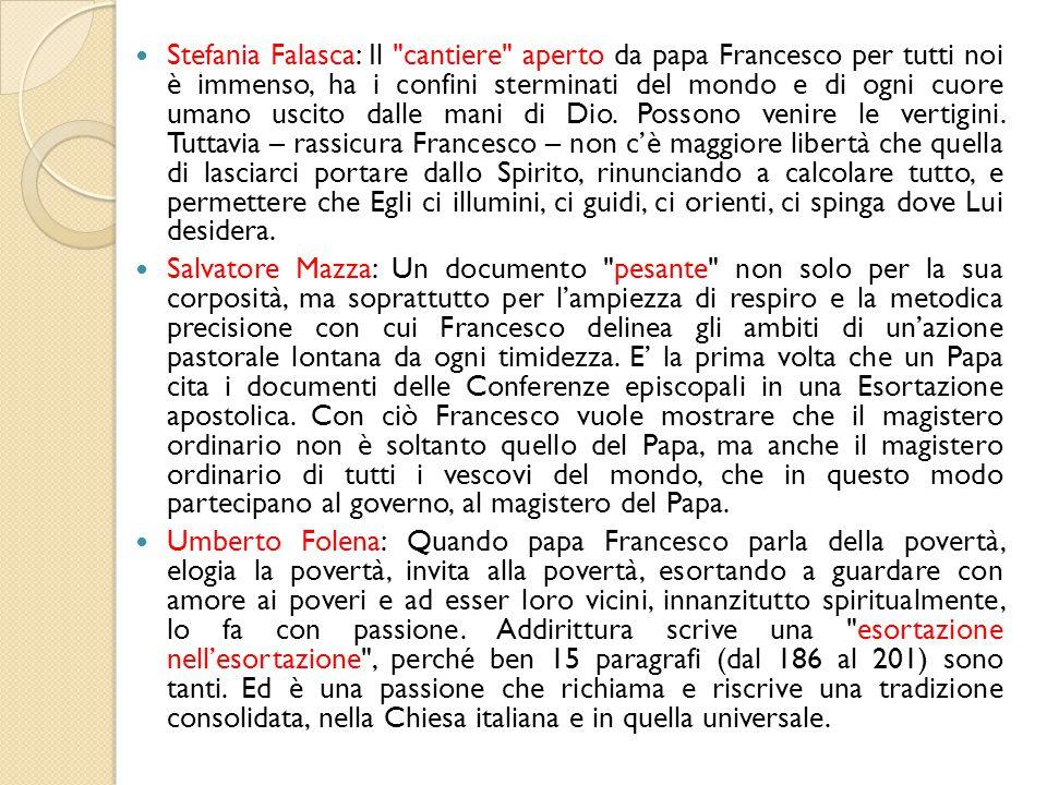 Stefania Falasca: Il cantiere aperto da papa Francesco per tutti noi è immenso, ha i confini sterminati del mondo e di ogni cuore umano uscito dalle mani di Dio.