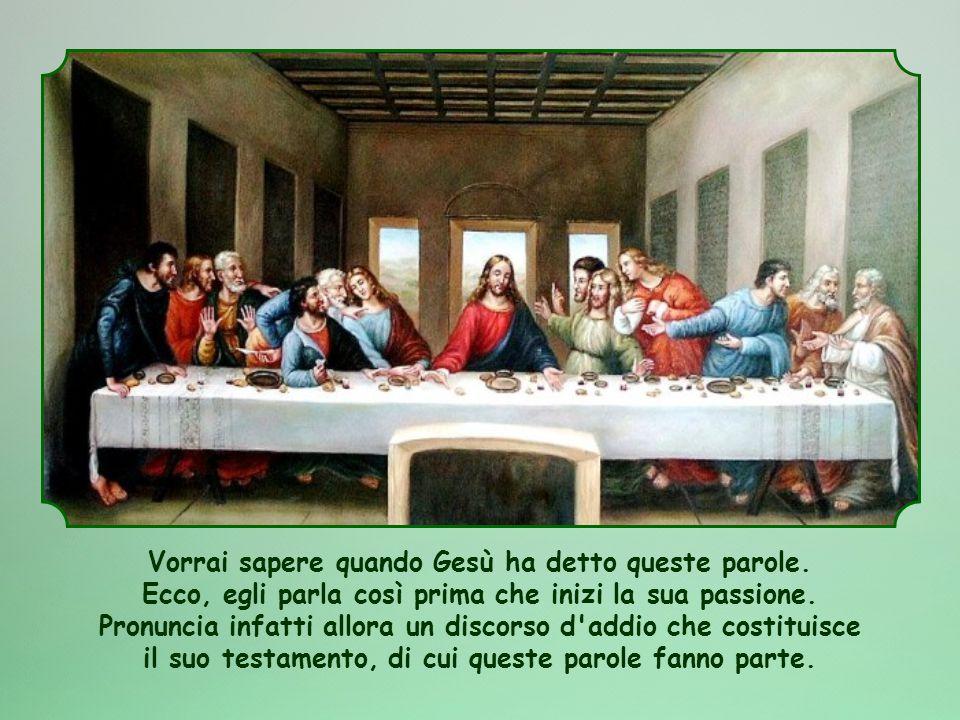 Vorrai sapere quando Gesù ha detto queste parole.