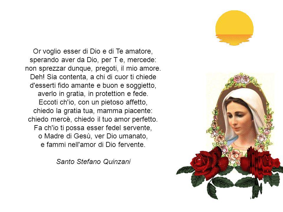 A MARIA VERGINE Donna del Ciel, più ch'altra belle bella, Maria, del mondo solo, alma gioiosa, gemma d'ogni virtù, fulgente stella, luna perfetta, aur