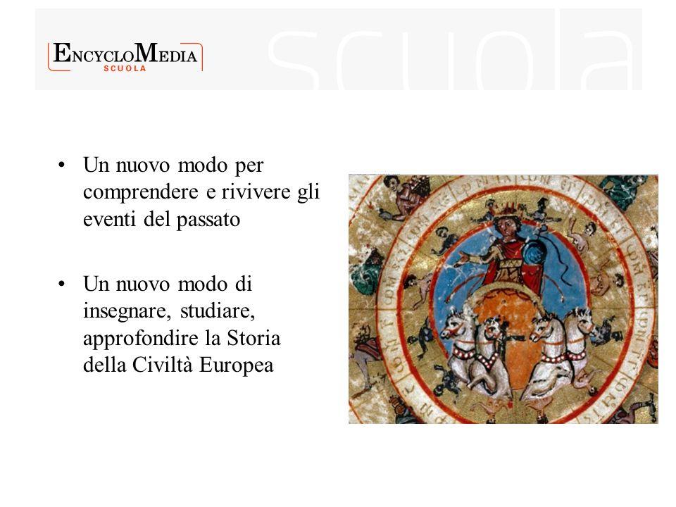 Un nuovo modo per comprendere e rivivere gli eventi del passato Un nuovo modo di insegnare, studiare, approfondire la Storia della Civiltà Europea