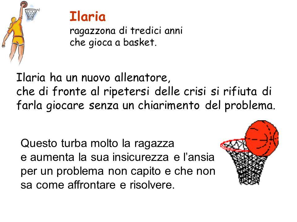 Ilaria ragazzona di tredici anni che gioca a basket.