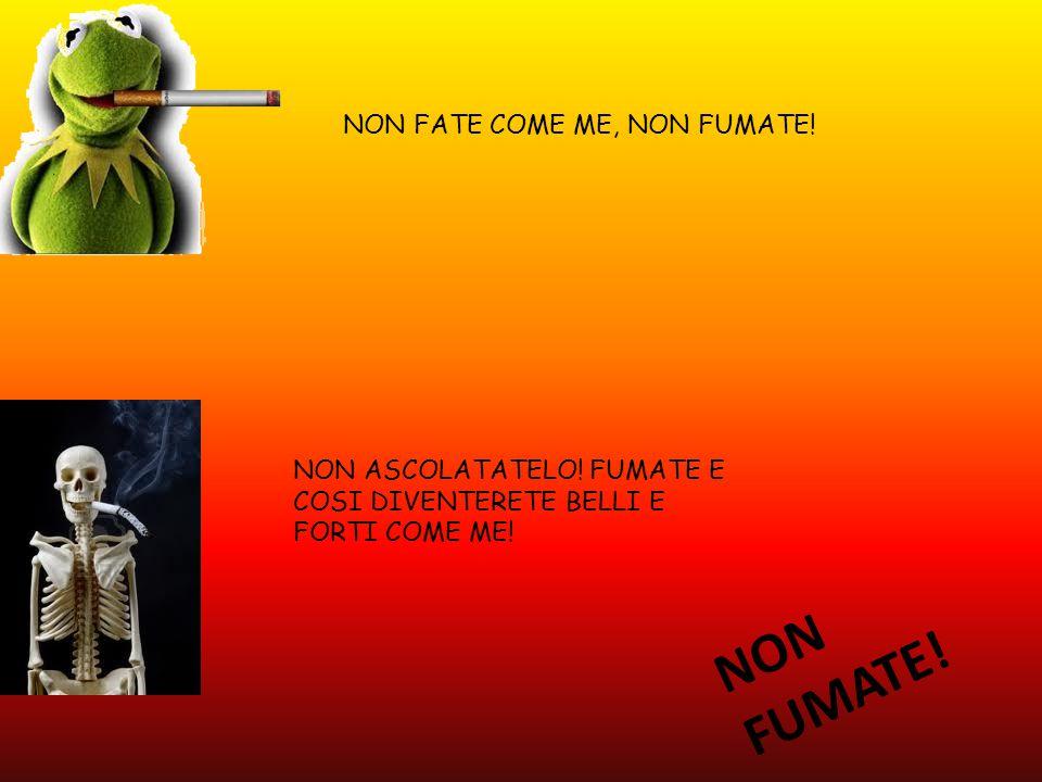 NON FATE COME ME, NON FUMATE. NON ASCOLATATELO. FUMATE E COSI DIVENTERETE BELLI E FORTI COME ME.